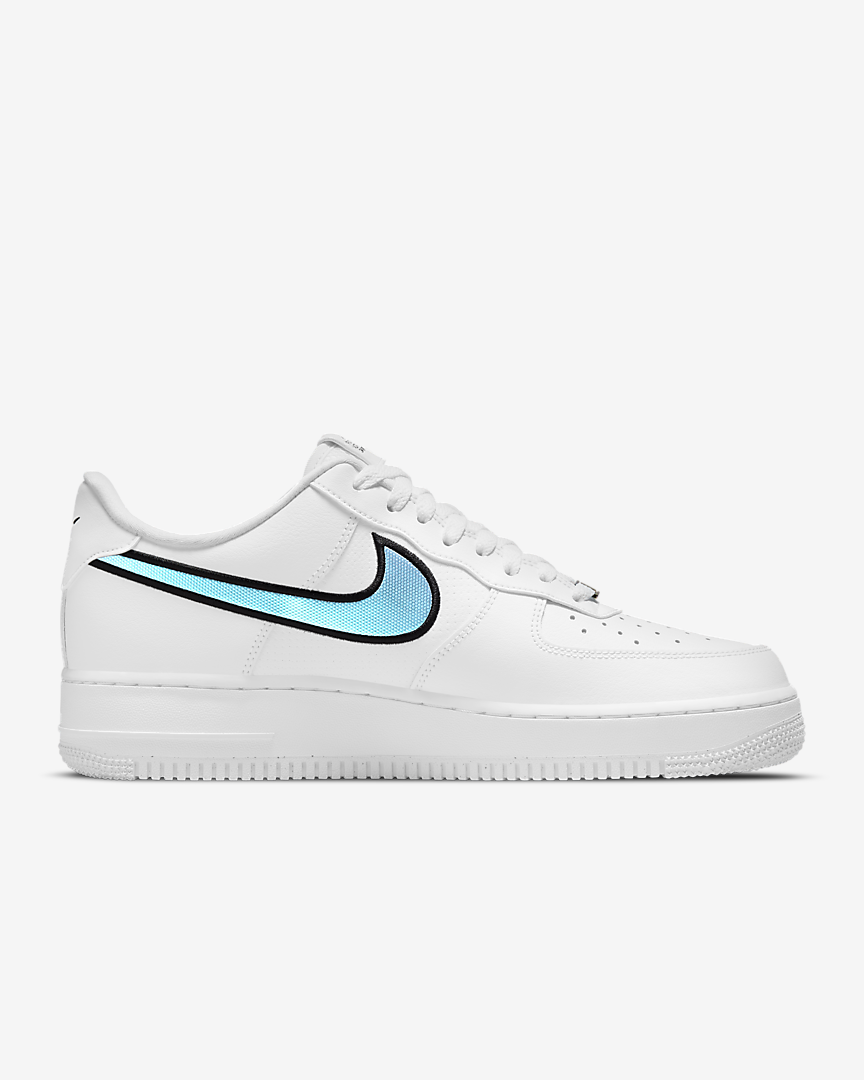 Nike Air Force 1 White Blue Iridescent 2021