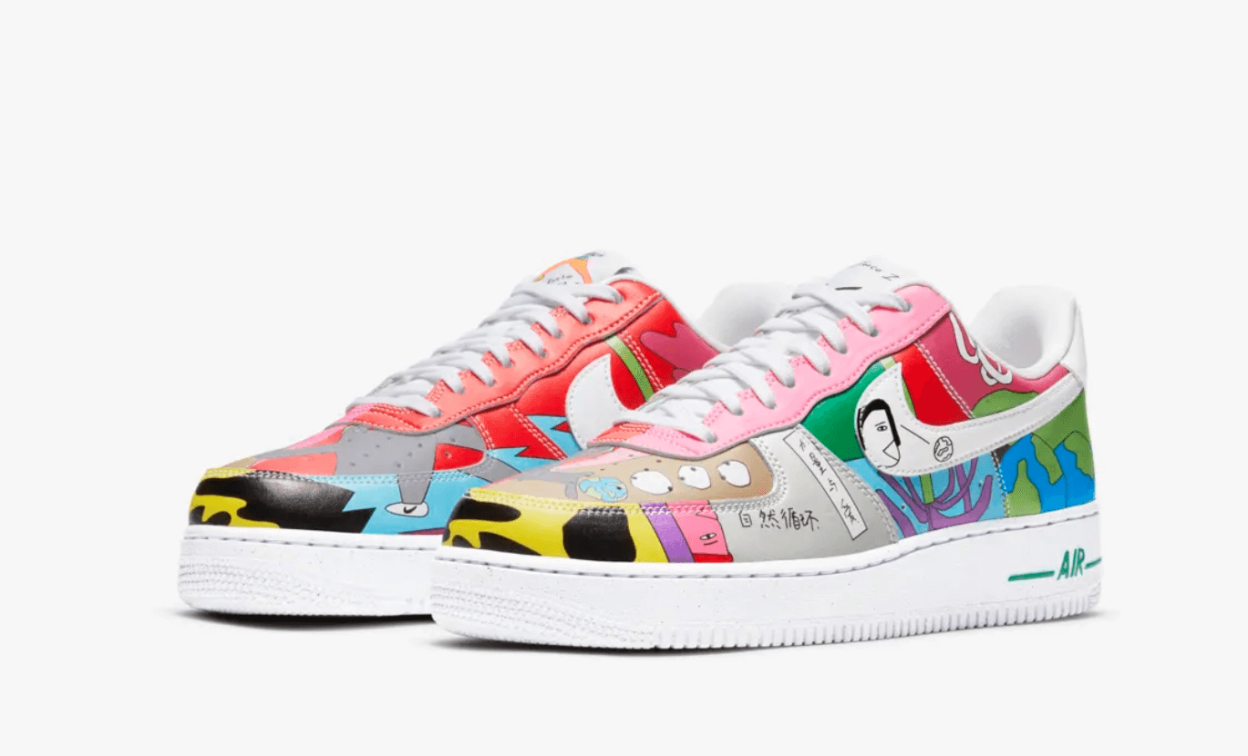 Nike Air Force 1 flyleather Rouhan Wang 2020