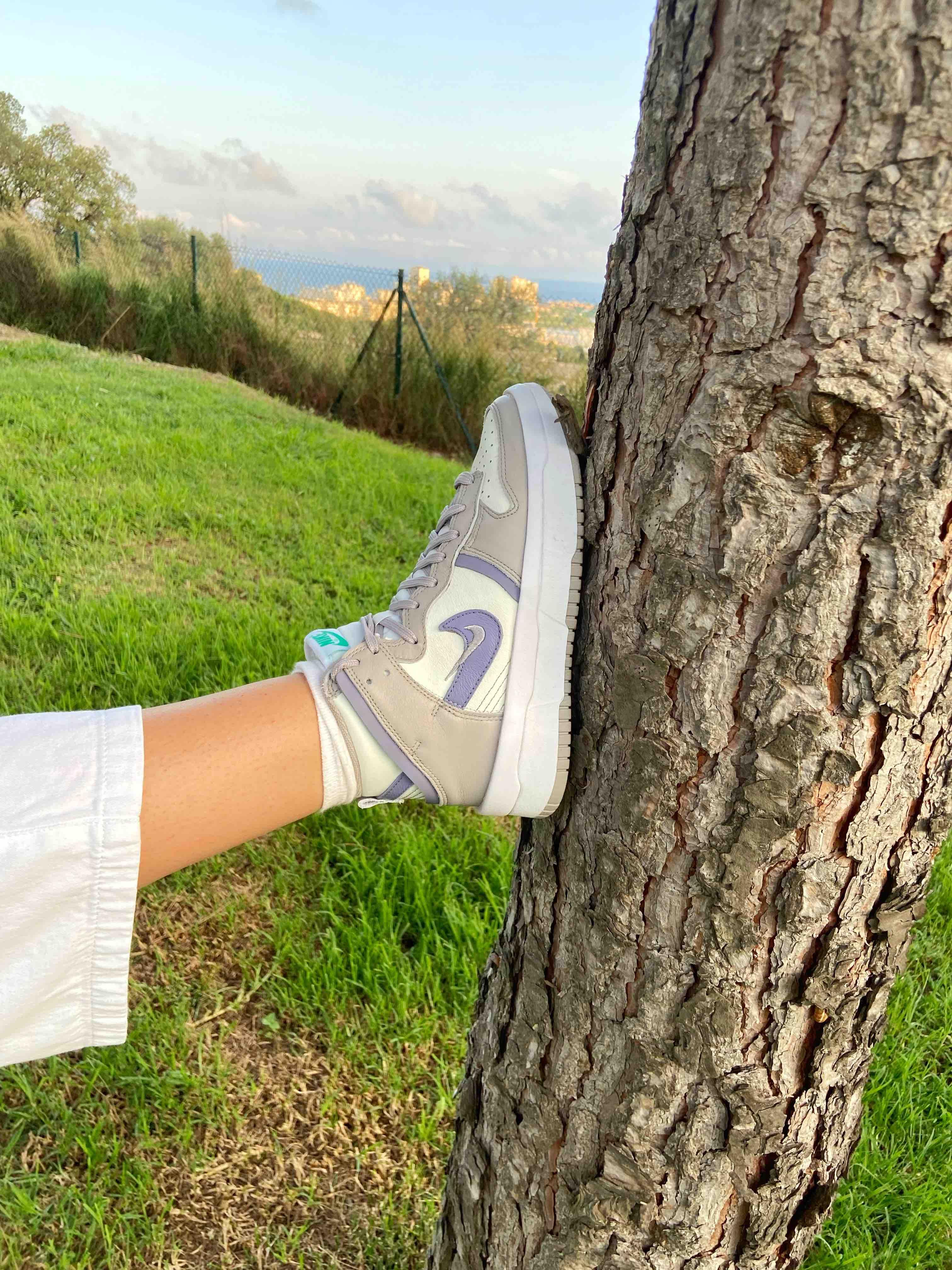 Nike Dunk High Up Iron Purple Chica