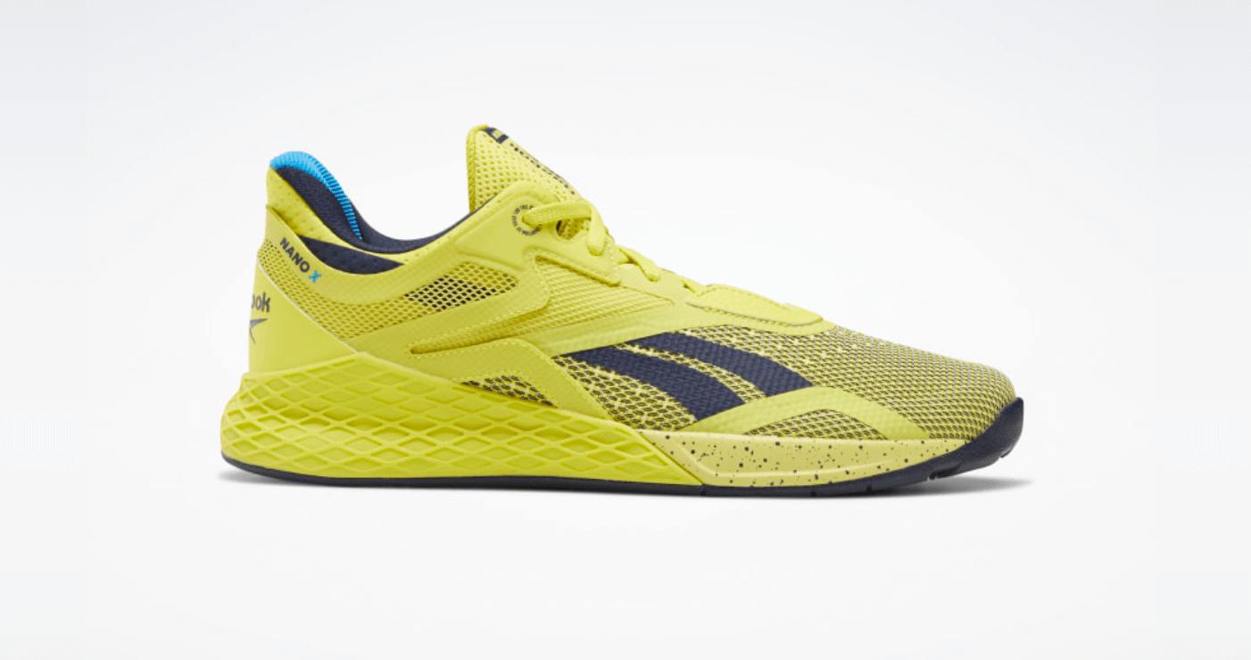 Reebook Nano X color amarillo yellow