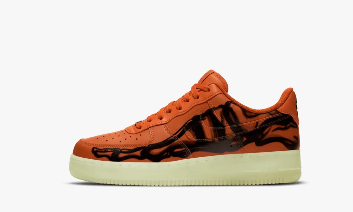 Nike Air Force 1 Skeleton Orange 2020