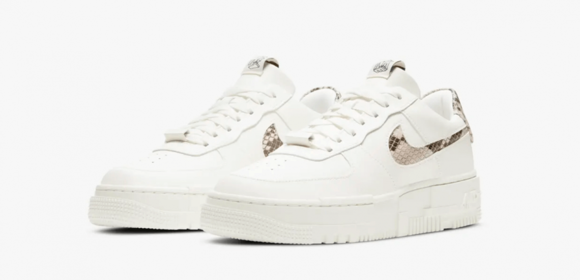 zapatillas NIKE Air Force 1 Pixel Sail Snake 2021