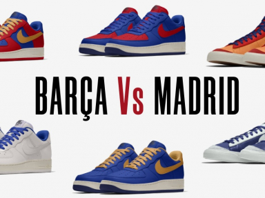 clasico barcelona madrid nike air force 1 by you