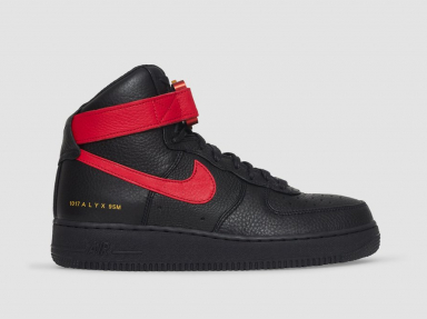 zapatillas Nike Air Force 1 x Alyx Black and University Red y Red and Black 2021