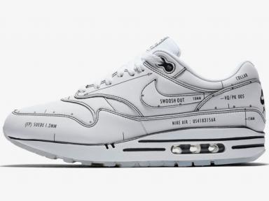 Nike Air Max 1 Schematic White